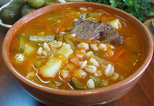 рецепт супа с сухими грибами и перловкой рецепт
