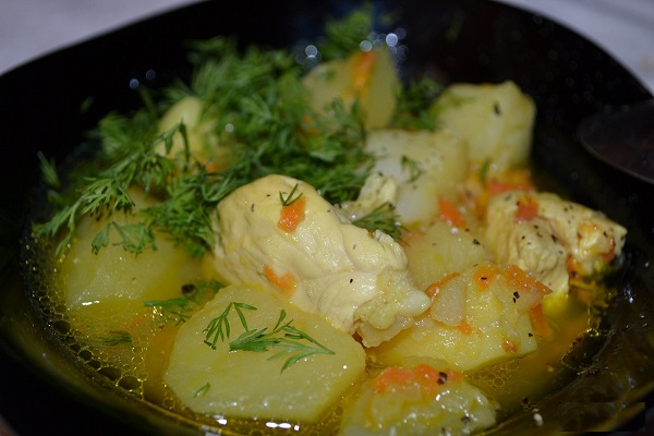 вкусно потушить картошку с курицей рецепт с фото