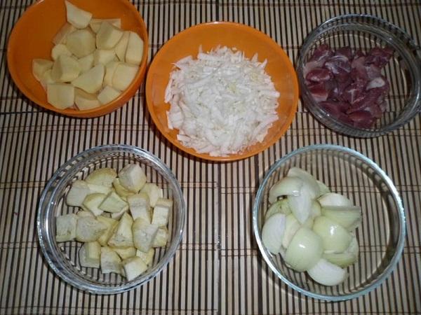рагу рецепт из свинины и капусты
