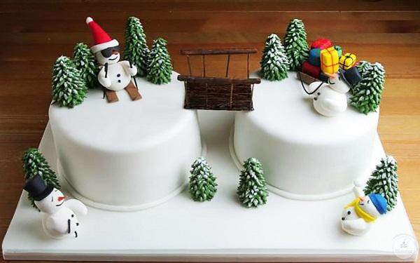 Маленькие торты на новый год