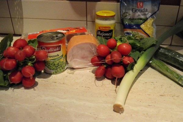 рецепт салата из редиски и огурца с фото
