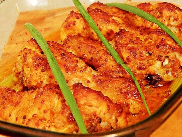 мед с горчицей для курицы в духовке рецепт