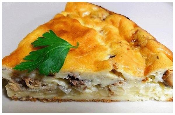 пирог с рыбными консервами рецепт духовке