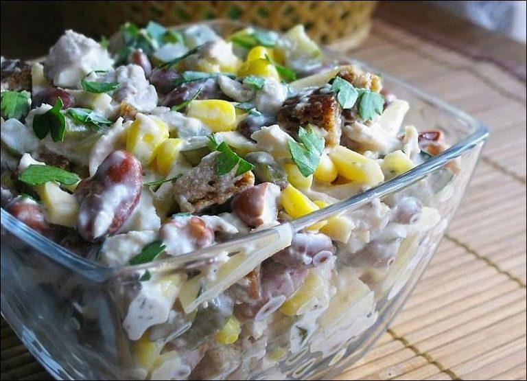Салаты с мясом и кукурузой рецепты
